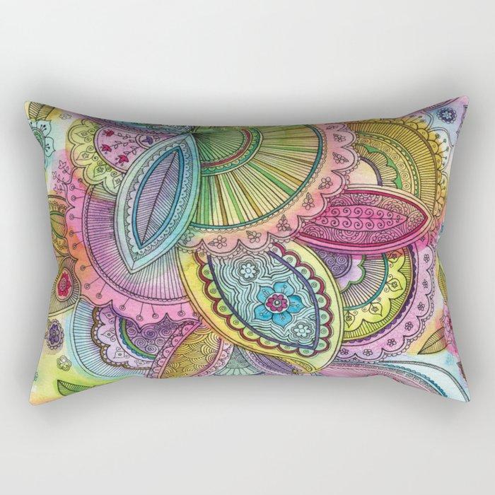 Fairground Paisley Rectangular Pillow