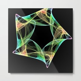 Octagon Swirl abstract Metal Print