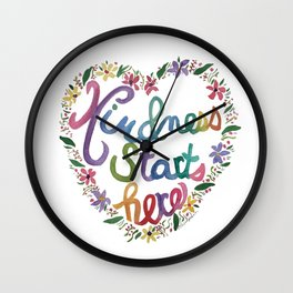 Kind Heart Wall Clock