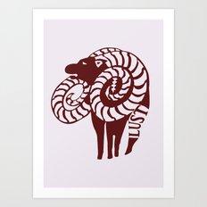 The Goat's Sin of Lust Art Print