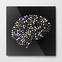 Books Brain Metal Print