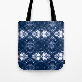 Shibori Tie Dye 1 Indigo Blue Tote Bag