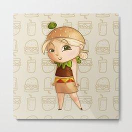 Mini Burger Metal Print