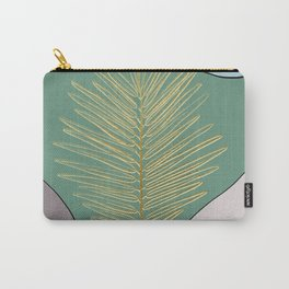 Golden leaf abstract art Carry-All Pouch