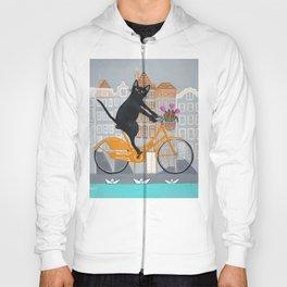 Amsterdam Cat Bicycle Ride Hoody
