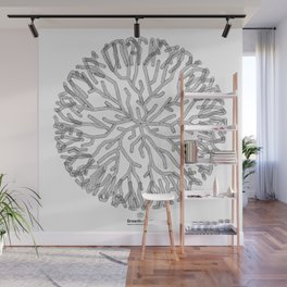 GEOMETRIC NATURE: CORAL w/b Wall Mural