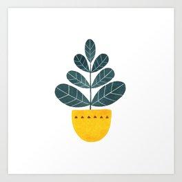 Yellow pot Art Print
