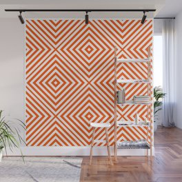 Vermillion Elegant Diamond Chevron Wall Mural