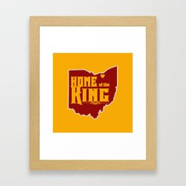 Home of the King (Yellow) Framed Art Print