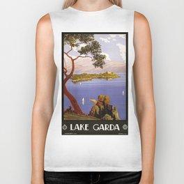 Vintage poster - Lake Garda Biker Tank