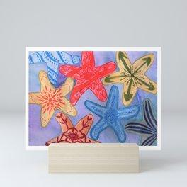 Ornamental Starfish Mini Art Print
