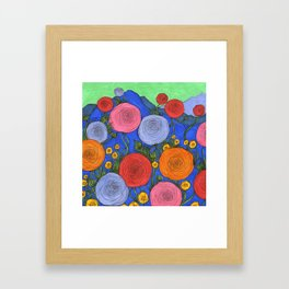 Colors in the Blue Ridge Mountains Framed Art Print