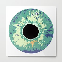 COLOR CONTACTS GREEN Metal Print