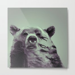 Bear in transition Metal Print