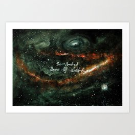 One Hundred Years of solitude Art Print