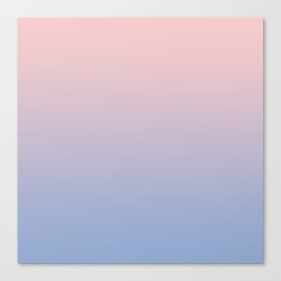 Rose Diamond / Quietude Gradient Colors Canvas Print