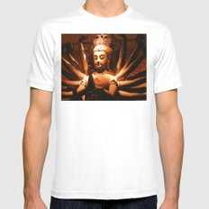 durga, indian goddess Mens Fitted Tee White SMALL