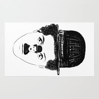 charlie chaplin Area & Throw Rugs featuring Charlie Chaplin by creaziz