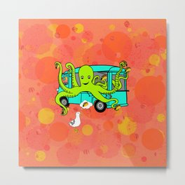 Flock of Gerrys Octo's Tacos by Seasons Kaz Sparks Metal Print