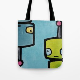 Robot - Recognizing You Through Time Tote Bag