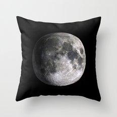 The Full Moon Super Detailed Print Throw Pillow