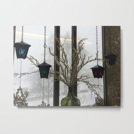 Lanterns in the Snow Metal Print