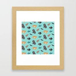 Jungle animals wilderness pattern tropics tropical Framed Art Print