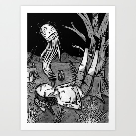 BOY WHO WHISTLES IN HIS SLEEP Art Print