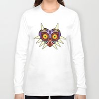 majoras mask Long Sleeve T-shirts featuring Majoras Mask by fiono