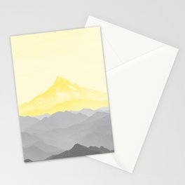 Illuminating Yellow 2021 Color Of The Year Pantone Mountains Adventure II Stationery Cards