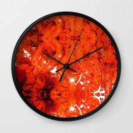 Red Abstract Art - Linked - By Sharon Cummings Wall Clock