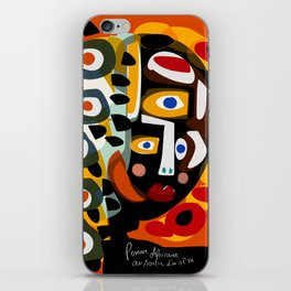 African Woman is dreaming in the sunrise iPhone Skin