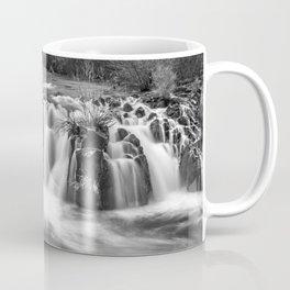 Steelhead Falls, Dream, Deschutes River, Black And White, Coffee Mug