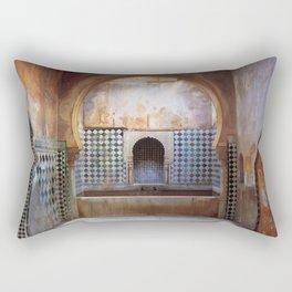 Hot bath room in the Alhambra Rectangular Pillow