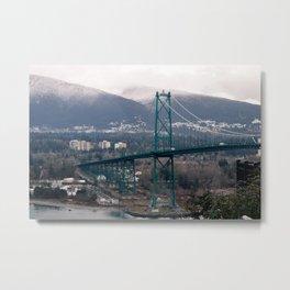 Lion's Gate Bridge Metal Print