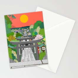 Passage to Light - Miyajidake Shrine Stationery Cards