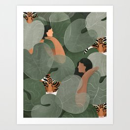Where the tigers grow Art Print