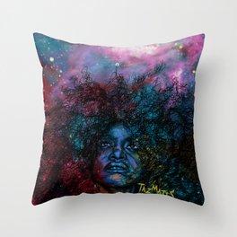Badu Universe Throw Pillow
