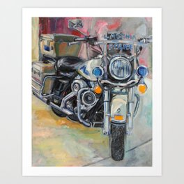 Laconia Police Bike - Front View Art Print