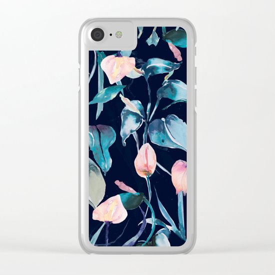 Night Lilies Clear iPhone Case