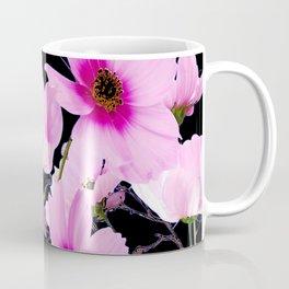 DELICATE PINK-FUCHSIA COSMO BLACK ART Coffee Mug