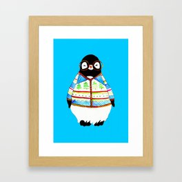 Ugly Holiday Sweater Hipster Penguin Framed Art Print