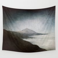 geology Wall Tapestries featuring Mount Teide and dust by UtArt