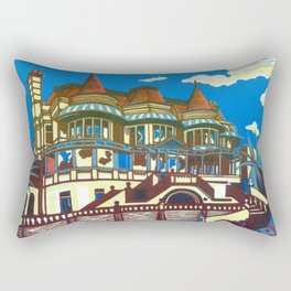 East Cliff Hall (Russell-Cotes Art Gallery & Museum) Rectangular Pillow