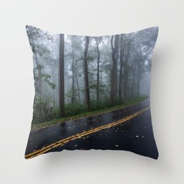 Smoky Mountain Summer Forest IV - National Park Nature Photography Throw Pillow