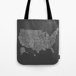 United States map Tote Bag