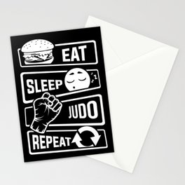 Eat Sleep Judo Repeat - Martial Arts Defence Stationery Cards