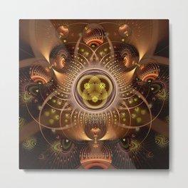 Copper Cosmos Metal Print