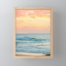Honolulu Sunrise Framed Mini Art Print