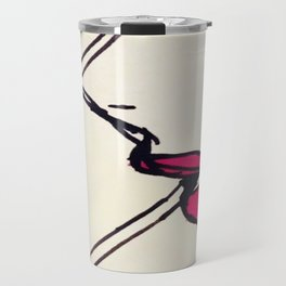 a smoking lady Travel Mug